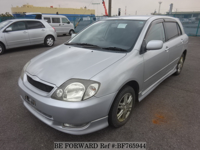 A used 2001 Toyota Allex from online used car exporter BE FORWARD.