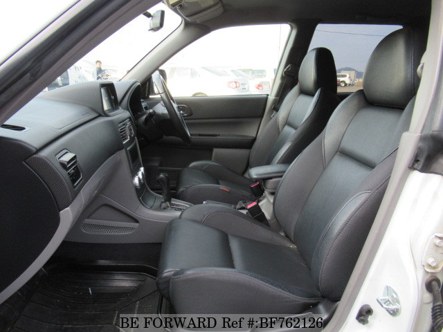 The interior of a used 2005 Subaru Forester from online used Japanese car exporter BE FORWARD.