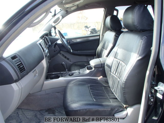 The interior of a used 2005 Toyota Hilux Surf from online Japanese used cars exporter BE FORWARD.
