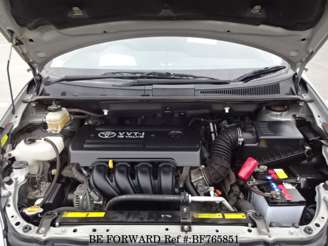 The engine of a used 2007 Toyota Wish from online used car exporter BE FORWARD.