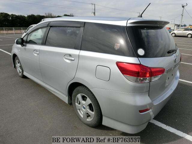 The rear of a used 2009 Toyota Wish from online used car exporter BE FORWARD.