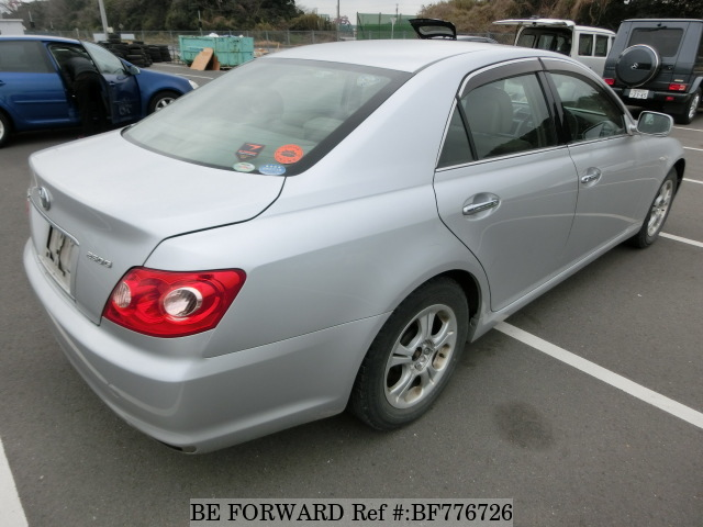 The rear of a used 2006 Toyota Mark X from online car exporter BE FORWARD