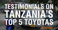 BE FORWARD Reviews: Testimonials on Tanzania's Top 5 Toyota Cars