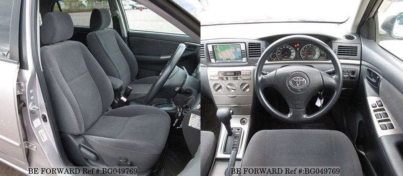 interior and center console of a used toyota corolla runx