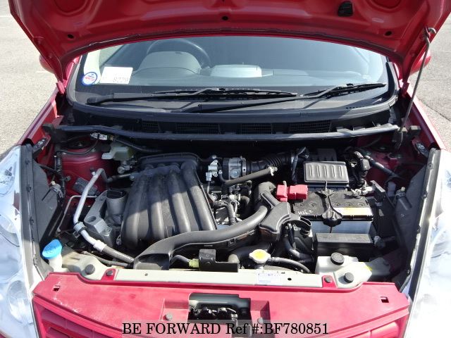 Engine of a used 2009 Nissan Note from online car exporter BE FORWARD