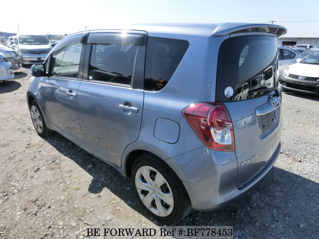 Rear of a used 2008 Toyota Ractis from online car exporter BE FORWARD