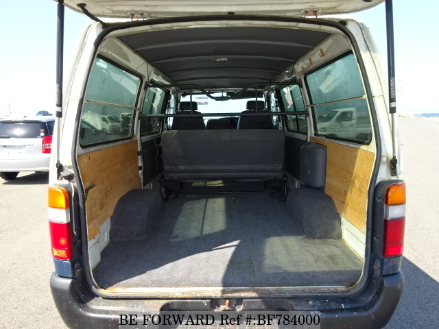 The interior of a used 1997 Toyota HiAce Van from online used car exporter BE FORWARD.