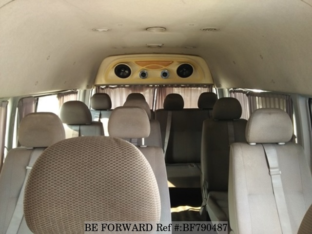 The interior of a used 2011 Toyota HiAce Commuter from online used car exporter BE FORWARD.