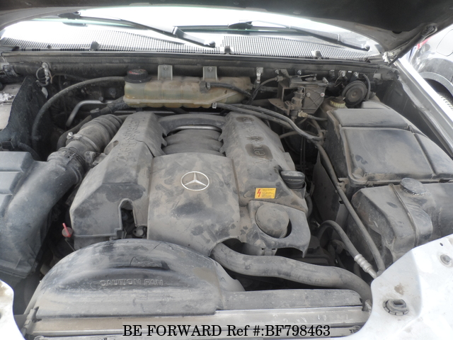 The engine of a used 2004 Mercedes-Benz ML Class from online used Japanese cars exporter BE FORWARD.