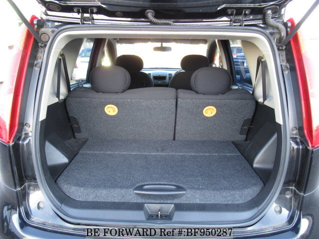 The boot of a used 2005 Nissan Note from online used car exporter BE FORWARD.