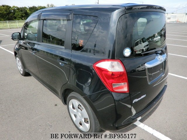 The rear of a used 2007 Toyota Ractis from online used car exporter BE FORWARD.