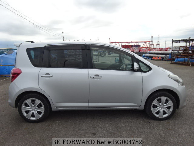 Side view of a used 2010 Toyota Ractis from online used car exporter BE FORWARD.