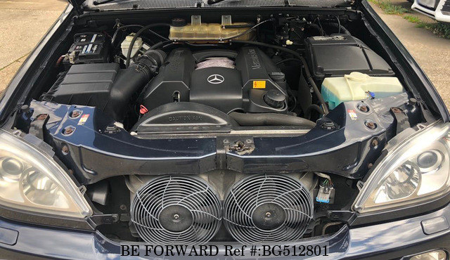 The engine of a used 2004 Mercedes-Benz ML Class - Luxury Crossover SUV Comparison