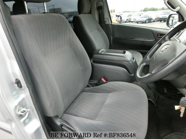 Above: Front interior of a used 2010 Toyota HiAce Van, 5th Generation