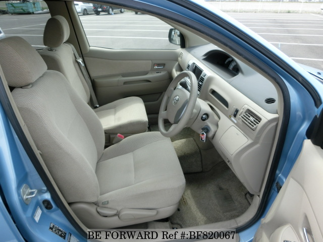Interior of a used 2005 Toyota Raum from online car exporter BE FORWARD