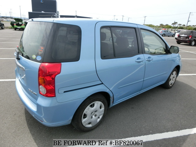 Rear of a used 2005 Toyota Raum from online car exporter BE FORWARD