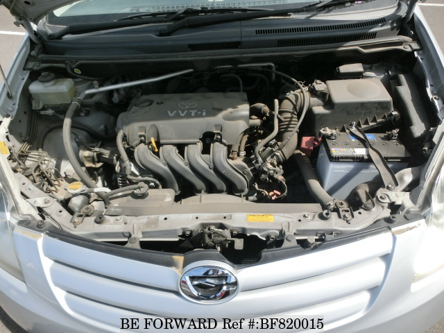 Engine of a used 2005 Toyota Corolla Spacio from online car exporter BE FORWARD