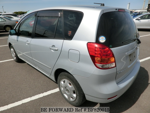 Rear of a used 2005 Toyota Corolla Spacio from online car exporter BE FORWARD