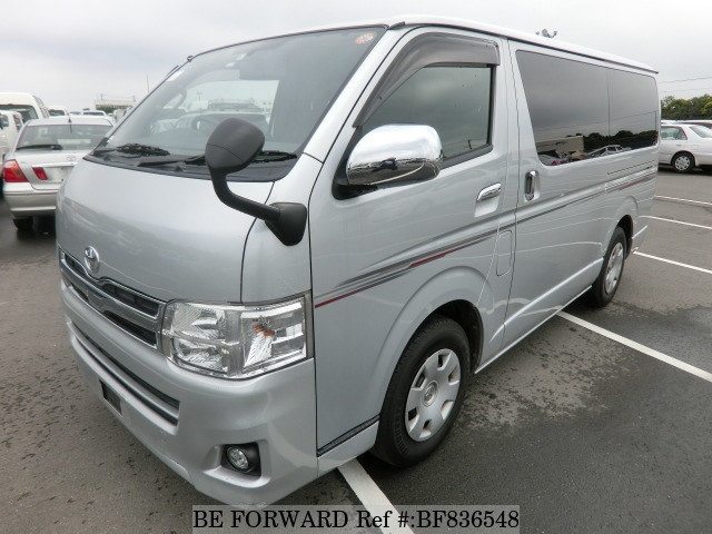 Front view of a used 2010 Toyota HiAce Van, 5th Generation