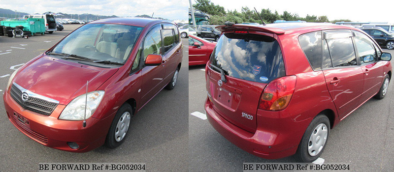 Toyota Corolla Spacio exterior front and back
