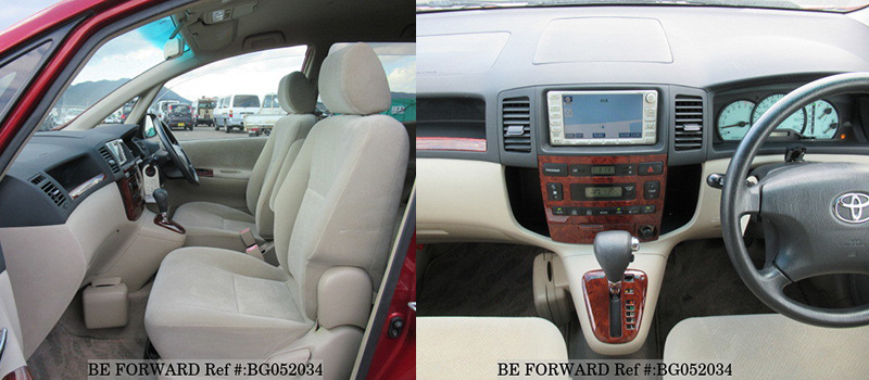 toyota spacio interior front seat and console