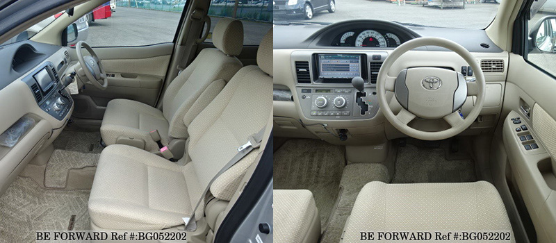 used toyota raum interior, front seat and center console