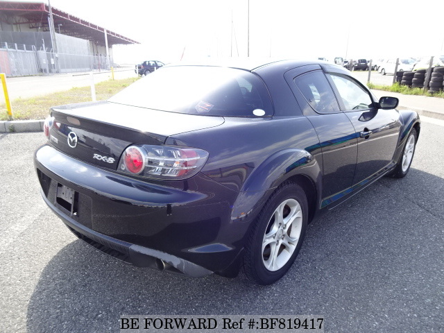 The rear of a used 2004 Mazda RX-8 from online used car exporter BE FORWARD.