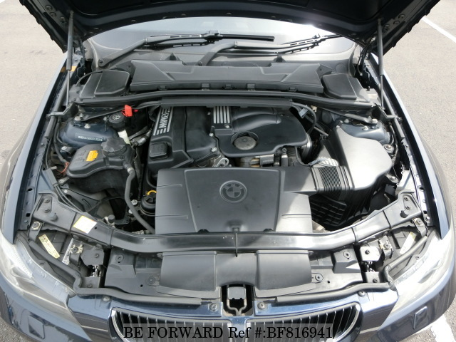 Engine of a used 2005 BMW 3 series from online used car exporter BE FORWARD.