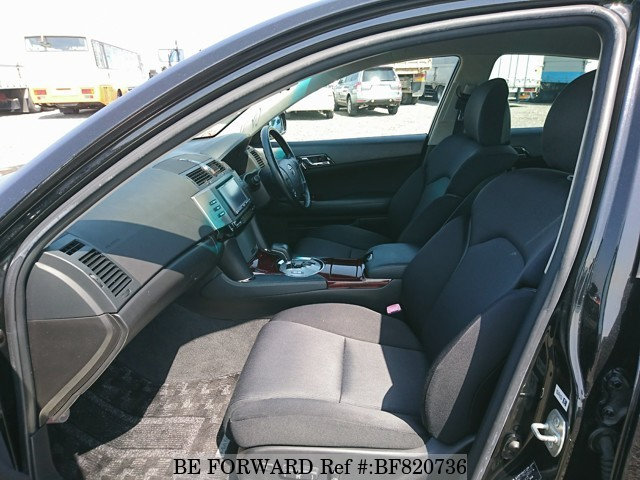 The interior of a used 2005 Toyota Mark X from online used car exporter BE FORWARD.