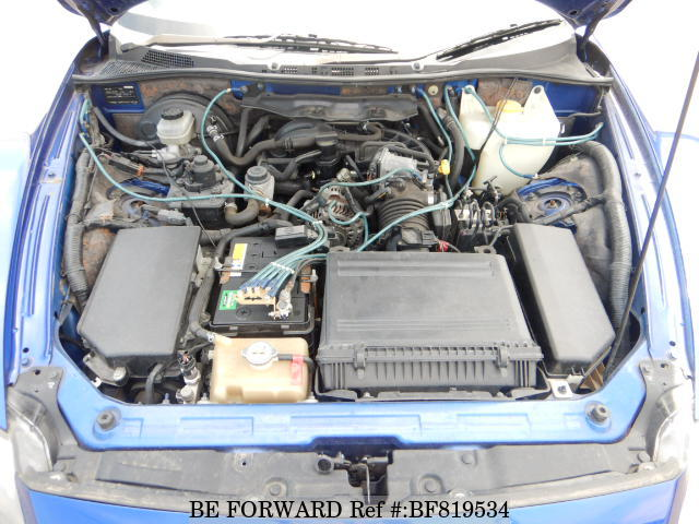 The engine of a used 2008 Mazda RX-8 from online used car exporter BE FORWARD.