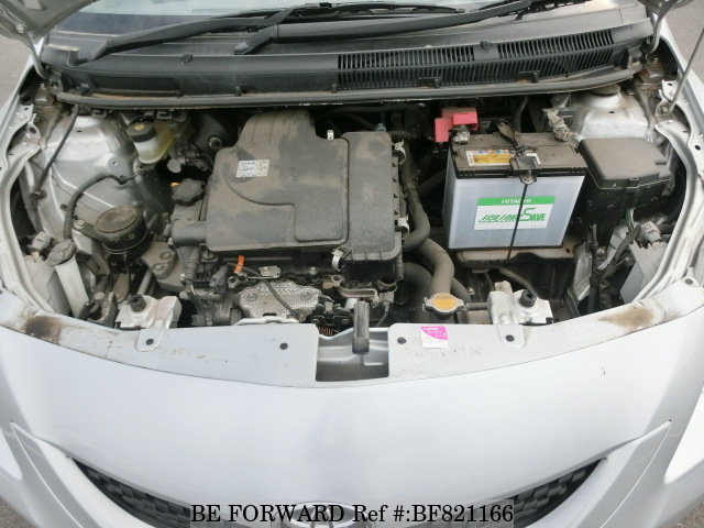 The engine of a used 2008 Toyota Belta from online used car exporter BE FORWARD.
