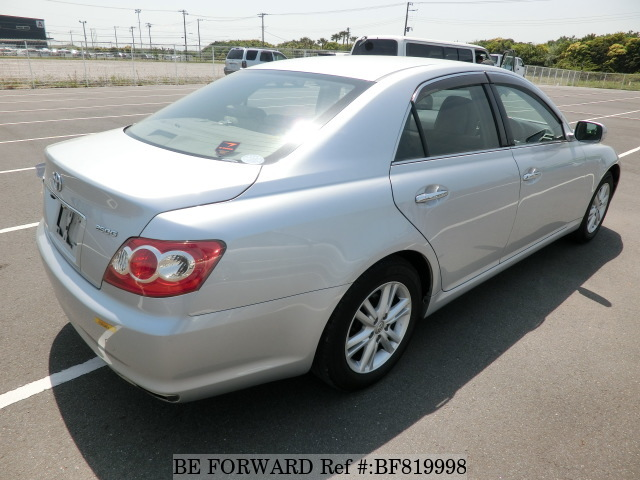 Rear of a used 2009 Toyota Mark X from online used car exporter BE FORWARD.