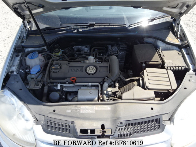 The engine of a used 2011 Volkswagen Golf from online used car exporter BE FORWARD.
