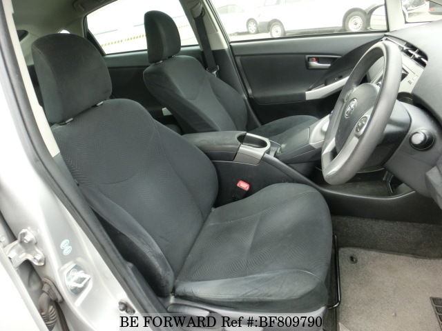 Interior of a used 2013 Toyota Prius from online used Japanese car exporter BE FORWARD.