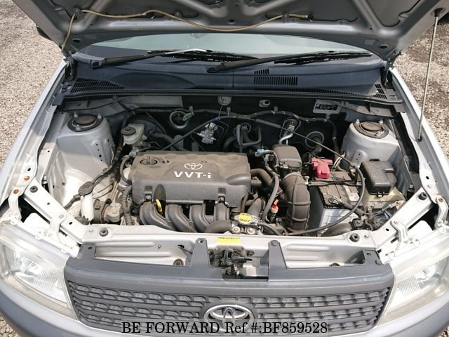 The engine of a used 2009 Toyota Probox Van from online used car exporter BE FORWARD.