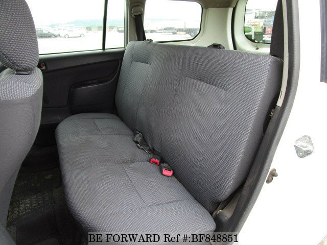 The back interior of a used 2008 Toyota Succeed from online used car exporter BE FORWARD.