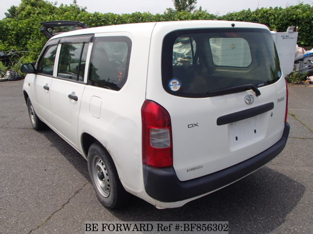 The rear of a used 2012 Toyota Probox Van from online used car exporter BE FORWARD.