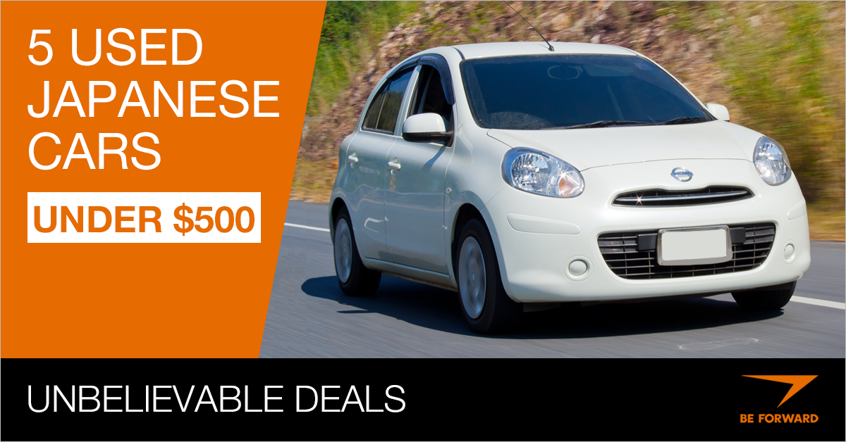 Unbelievable Deals 5 Used Japanese Cars Under 500