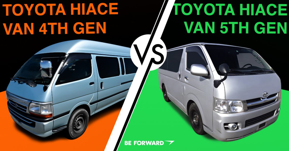 seriamente llevar a cabo raspador  4th & 5th Generation Toyota HiAce Vans: A Head to Head Comparison