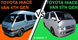 Toyota HiAce Van - Fourth Generation vs. Fifth Generation Comparison - BE FORWARD