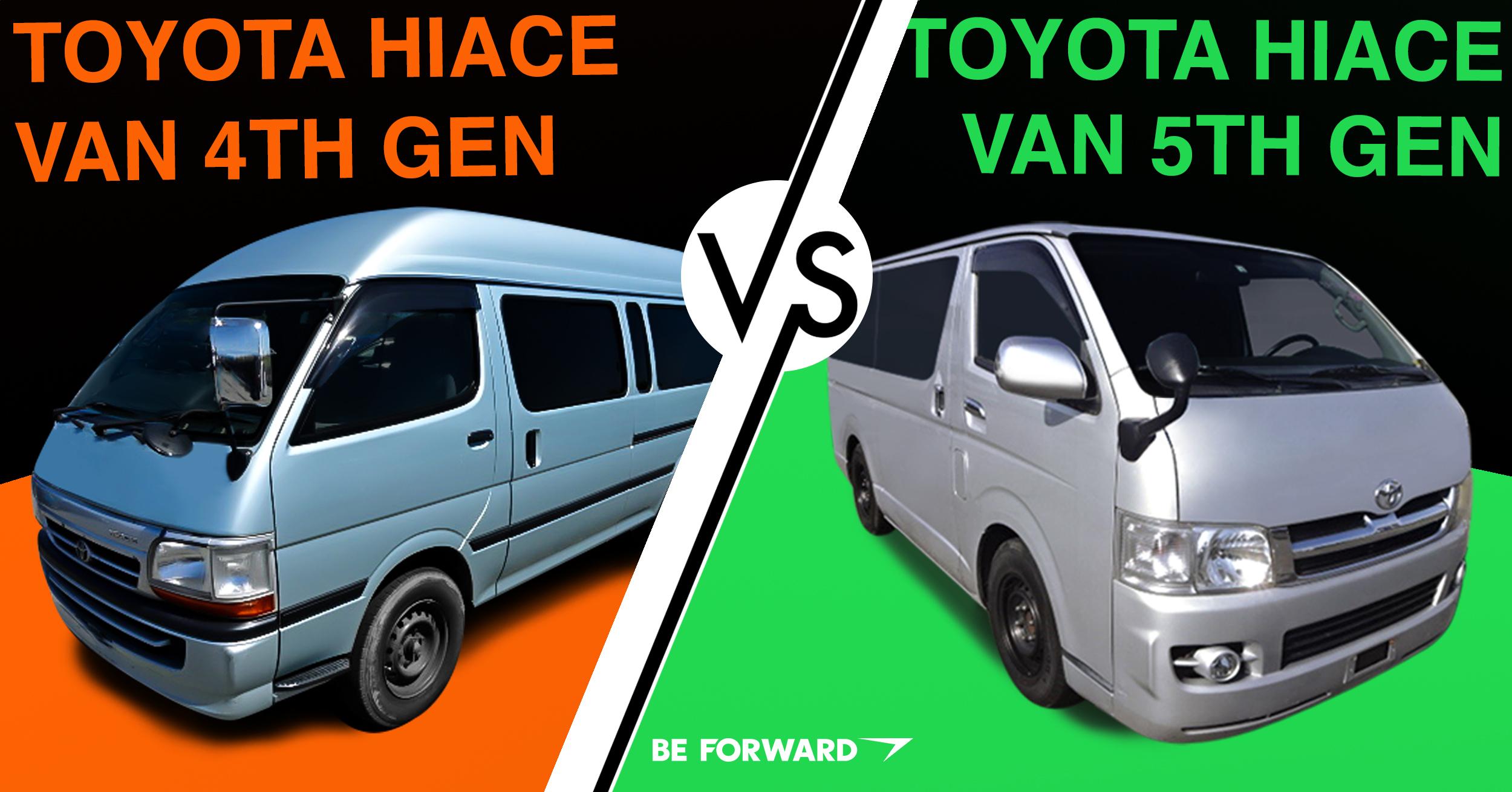 4th 5th Generation Toyota Hiace Vans A Head To Head Comparison