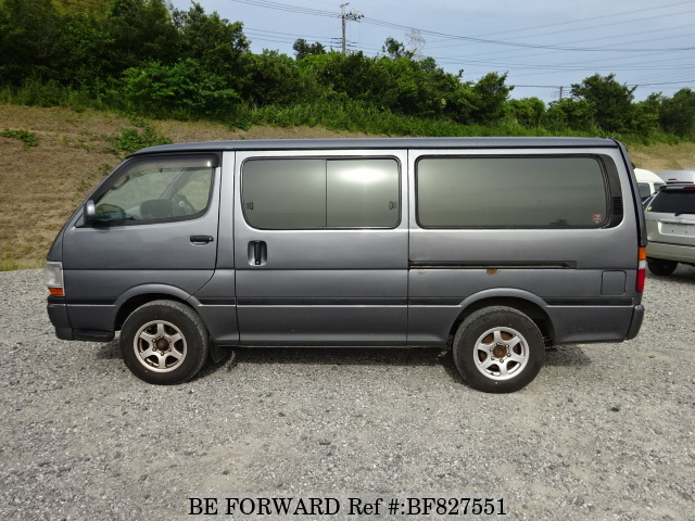 Side view of used 2000 Toyota HiAce Van 4th Generation