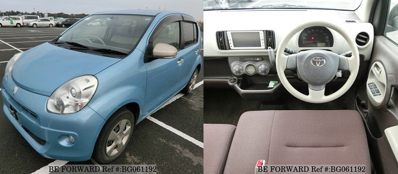interior and exterior of a used toyota passo under 500 from BE FORWARD