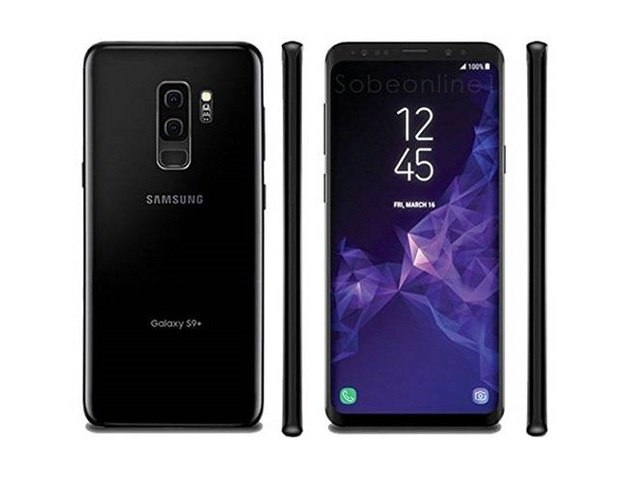 A black Samsung Galaxy S9 Plus from BE FORWARD.