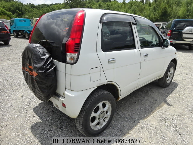 The rear of a used 2001 Daihatsu Terios Kid from online used car exporter BE FORWARD.