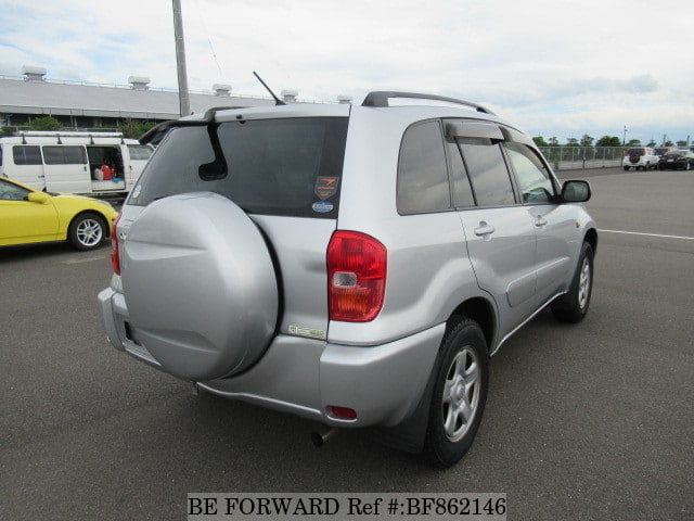The rear of a used 2001 Toyota RAV4 from online used car exporter BE FORWARD.