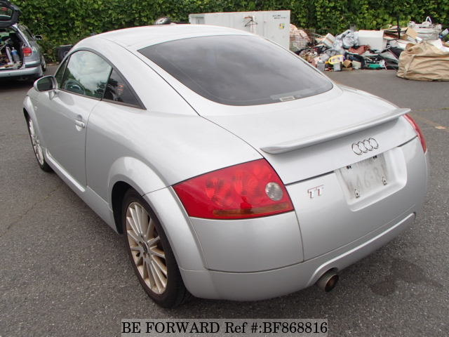 The rear of a used 2003 Audi TT from online used car exporter BE FORWARD.