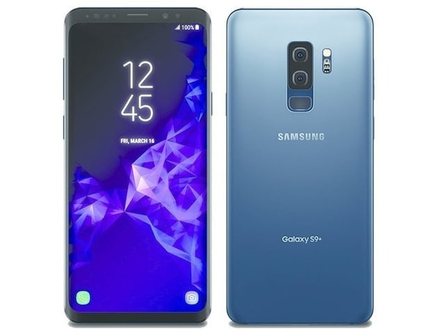 A blue Samsung Galaxy S9 Plus from BE FORWARD.