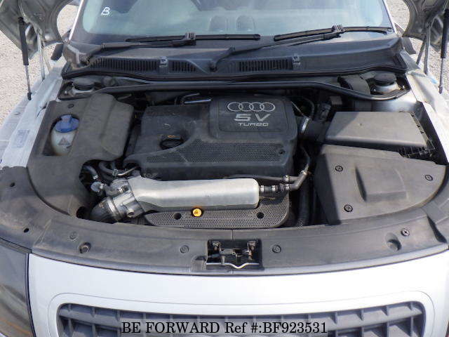 The engine of a used 2005 Audi TT from online used car exporter BE FORWARD.