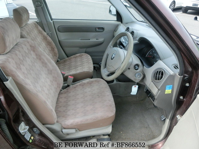 The interior of a used 2008 Suzuki Alto from online used car exporter BE FORWARD.